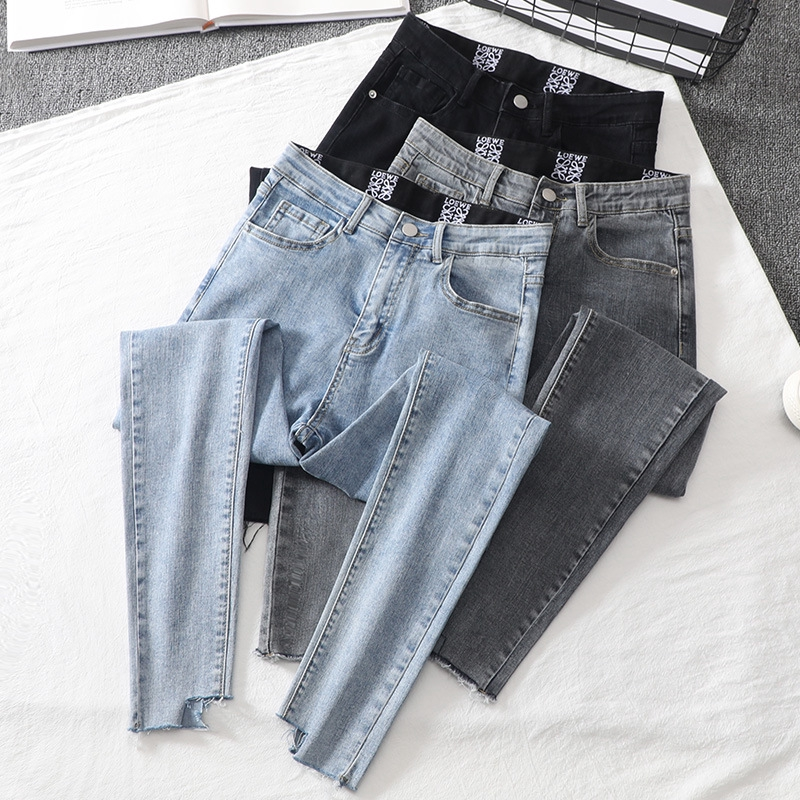 Quần Jeans Lưng Cao Thời Trang Dành Cho Nữ