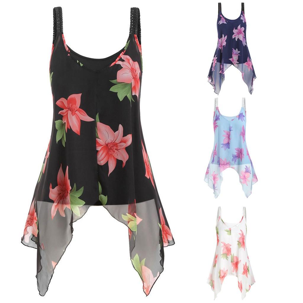 Bộ áo hai dây họa tiết hoa thời trang dành cho nữ