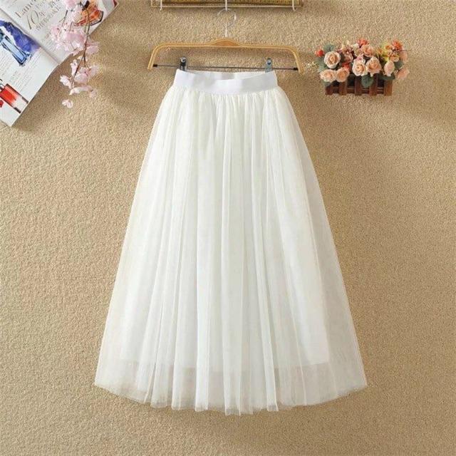 Chân váy lưới trắng ( CÓ ẢNH THẬT MÌNH MẶC )