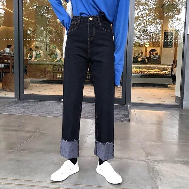 Có sẵn - Quần jeans đen size L