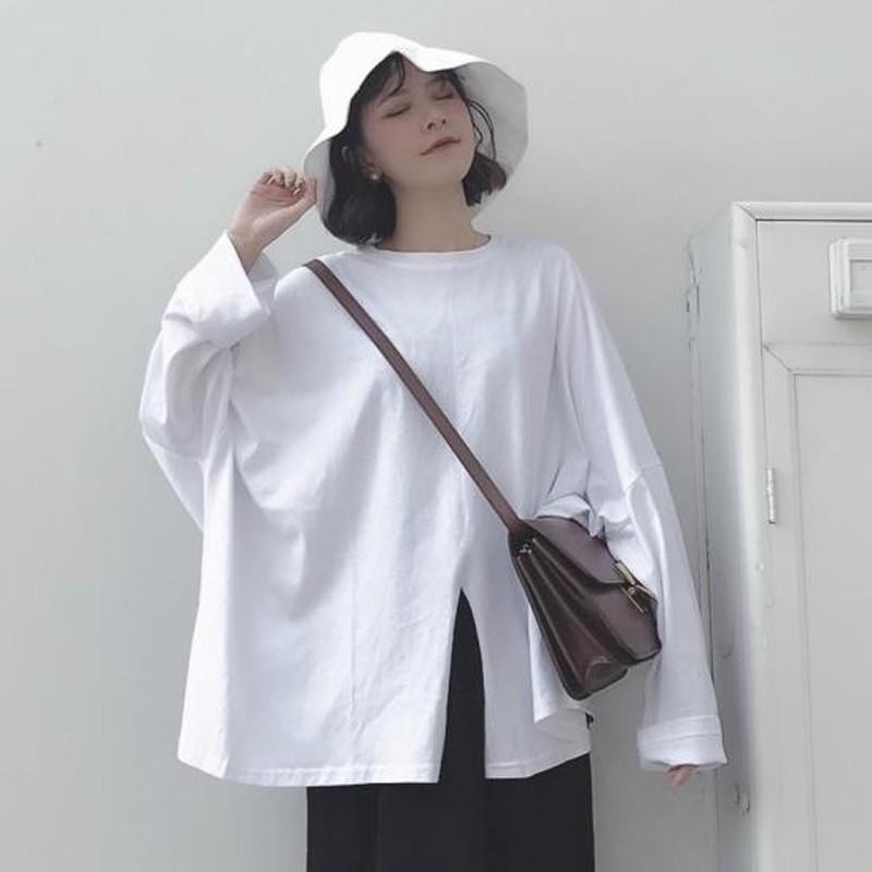 áo thun nữ dài tay cổ tròn thời trang hàn