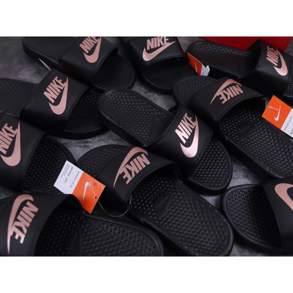 Dép Nike Logo Hồng Dạ