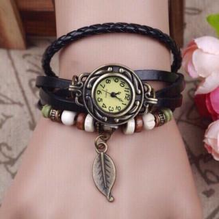 Vòng dây da đeo tay kèm mặt đồng hồ cá tínhlemo (GIAO MÀU NGẪU NHIÊN)