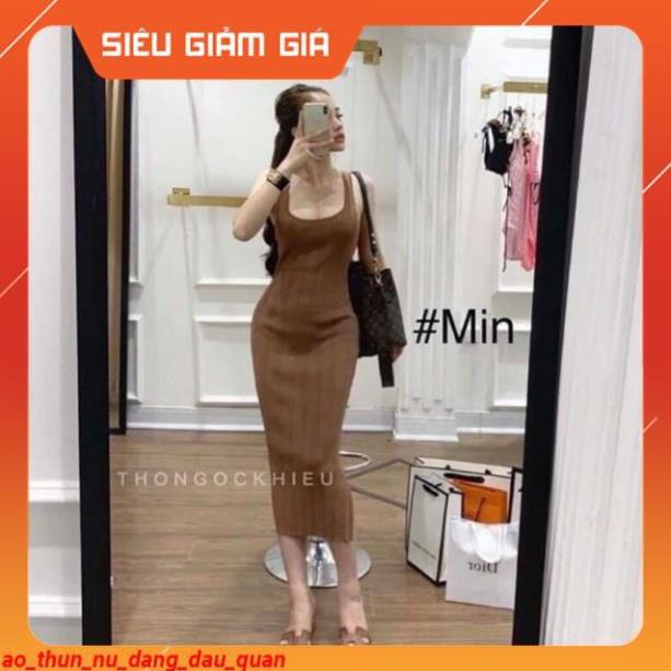 [Xả Hàng 1 Ngày] Váy nữ - đầm nữ len body 3 lỗ siêu điệu ✽