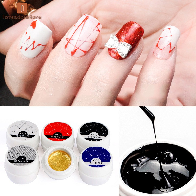 LV△ Wire Drawing Gel Nail Art Painting Varnish Point Line DIY UV Gel for Nail Art