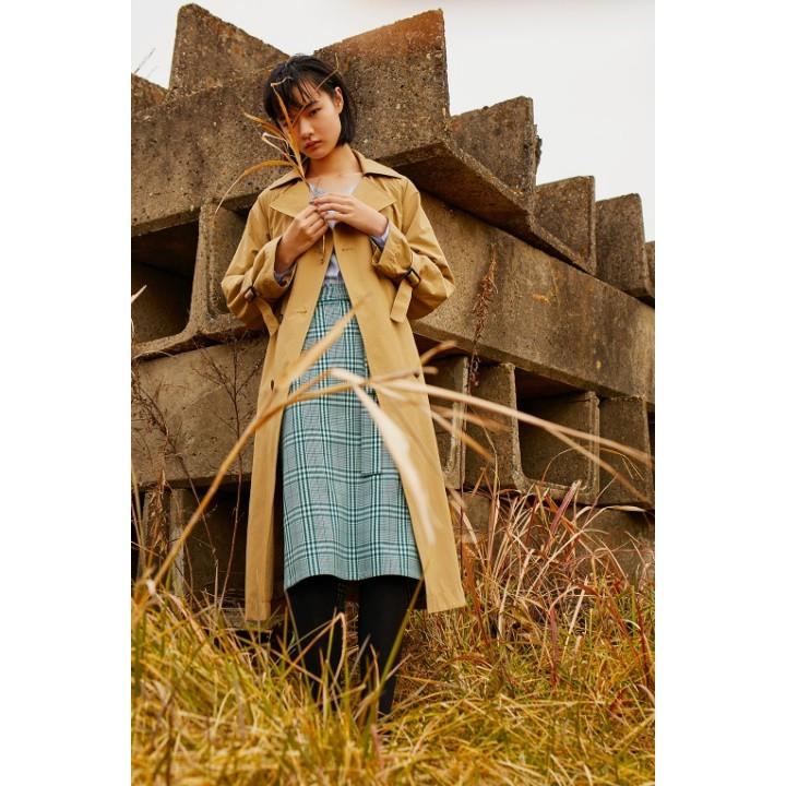 Chân váy Cạp chun thắt nơ GU - Nhật Bản