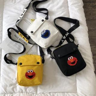 🍒blueberry✨KAWS Fashion Cute Cartoon Character Pattern Canvas Women's Crossbody Bag Shoulder Bag