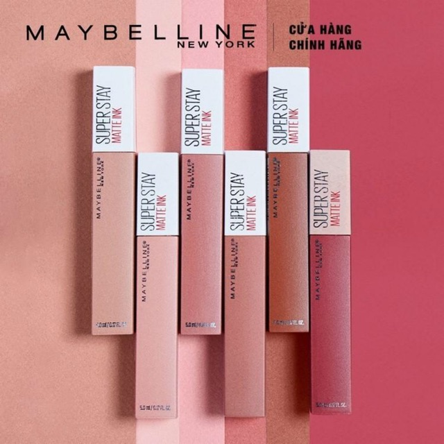 Son Kem Chuẩn Lì Giữ Màu 16h Maybelline New York Superstay Matte Ink City Edition 5ml