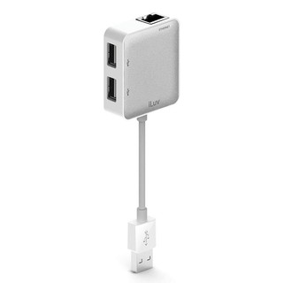 Cáp kết nối iLuv USB Ethernet Adapter with 2 USB ports