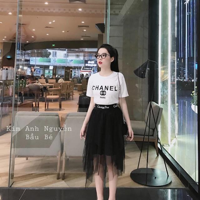 [SALE SALE 20%] [Hàng Quảng Châu] Set áo + chân váy lưới tầng cao cấp