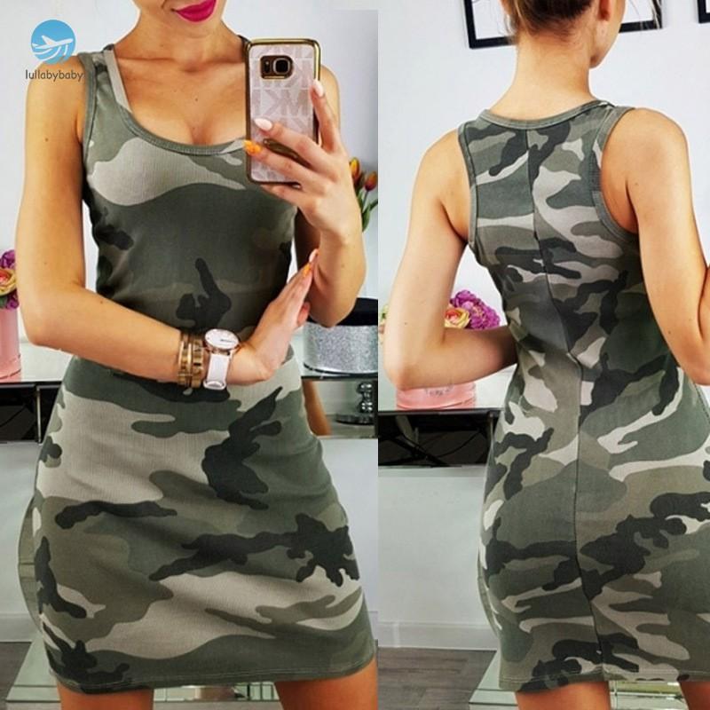 Đầm nữ mùa hè họa tiết rằn ri quân đội