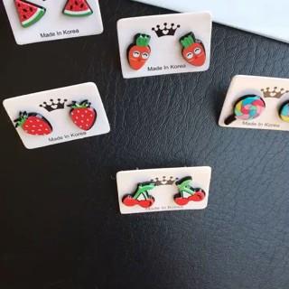 Thời trang Bông tai hoa quả siêu cute dạng nụ dài 13mm đẹp