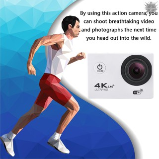 TO F60R 4K WIFI Full HD1080P Action Camera Waterproof 30M 120 Degree Wide-angle Sports DV Mini 2in LCD Screen For Outd