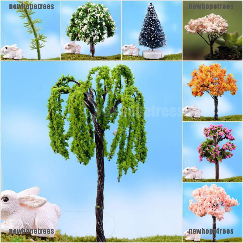newhopetree Trees for Miniature Fairy Garden Ornament Dollhouse Plant Pot Figurine DIY Craft {NEW}