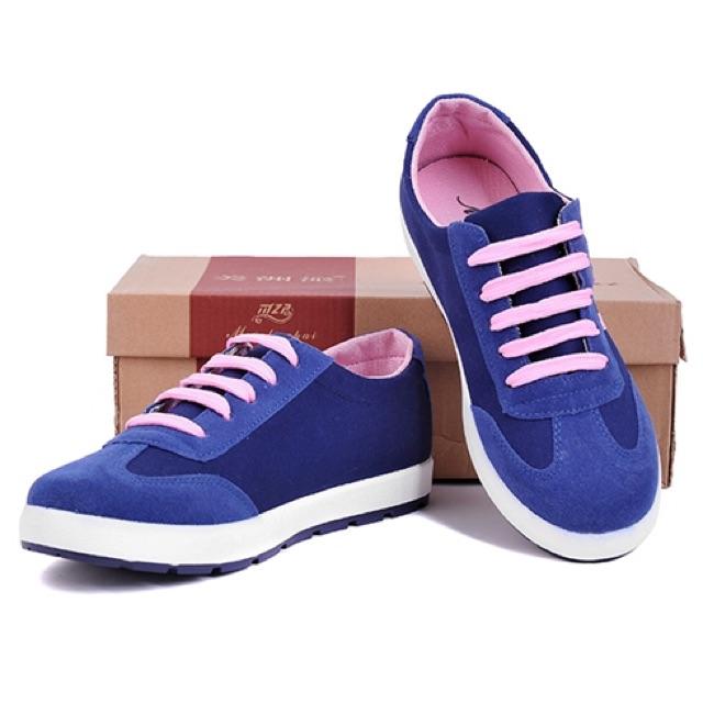 Giày nữ phối da nhung thiết kế thời trang