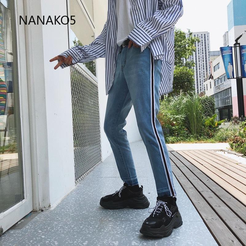 Quần Jeans nam ống đứng thời trang