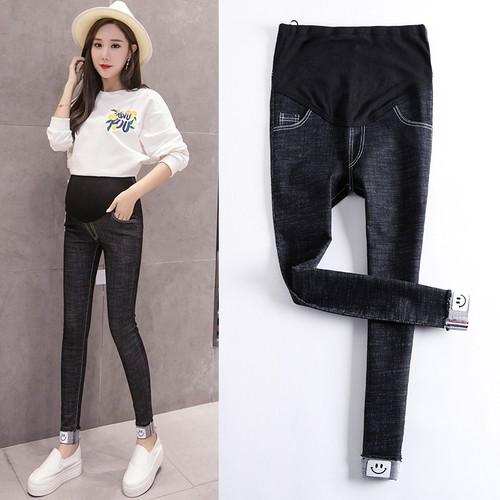 NNK-Quần Jeans Denim dài thời trang cho phụ nữ mang thai
