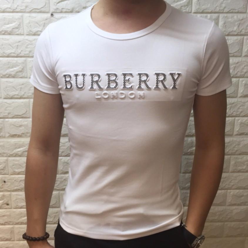 Áo thun nam BUBERRY trắng phong cách