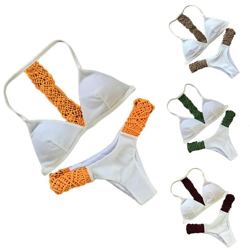 Bikini lưng móc họa tiết