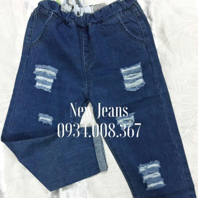 Quần jeans lưng thun