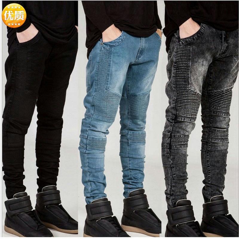 Quần jeans nam dáng ôm phong cách Âu Mỹ cá tính