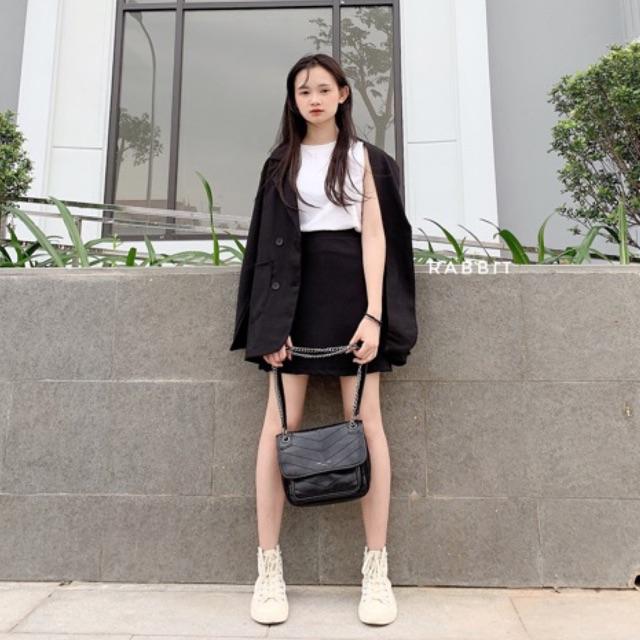 Set vest xinh gồm áo + chân váy