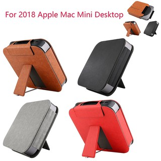 Fashion Leather Case Cover Sleeve Protector for 2018 Apple Mac Mini Desktop