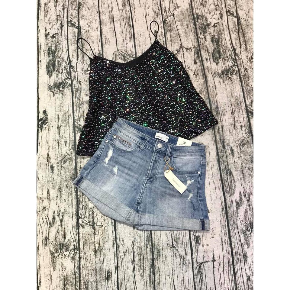 Set áo 2 dây 2lady + short jeans