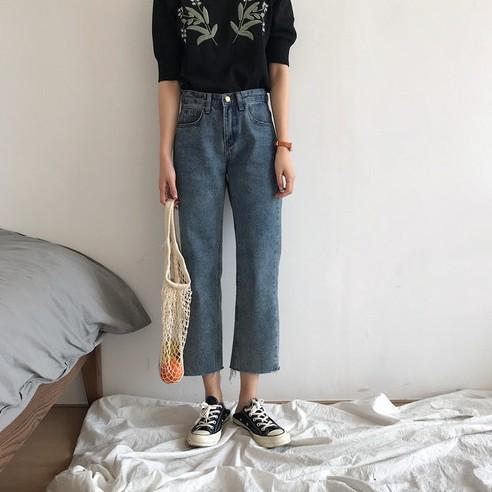 Quần Jeans Nữ Kiểu Dáng Retro Thời Trang Đa Phong Cách