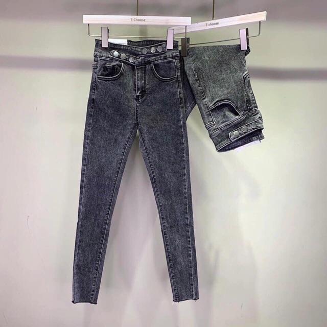 Quần jeans cạp cao