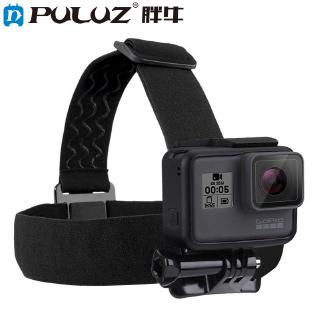 PULUZ Waterproof Head Band Mount Adjustable Elastic Head Band Strap for GoPro Hero 5 4 Session 3+3