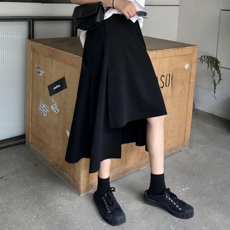Chân Váy Dài Lưng Cao Màu Đen Phong Cách Hàn Quốc Cho Nữ