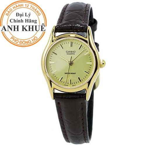 Đồng hồ nữ dây da Casio chính hãng Anh Khuê LTP-1094Q-9ARDF