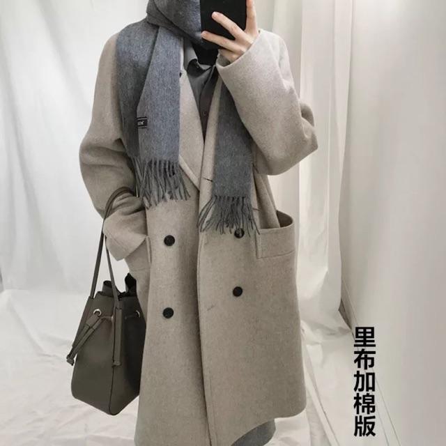 [2018]áo khoác dạ 4 hột nút 2