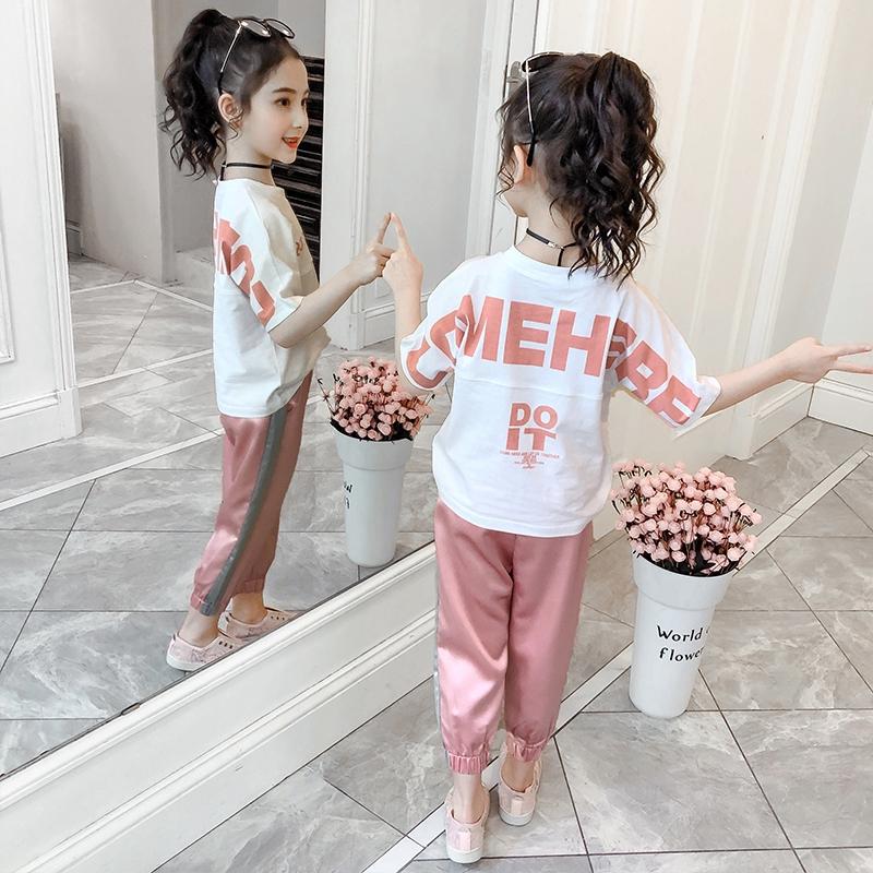 Bộ Áo Thun Ngắn Tay In Chữ + Chân Váy Xinh Xắn Theo Phong Cách Hàn Quốc Dành Cho Nữ 2020