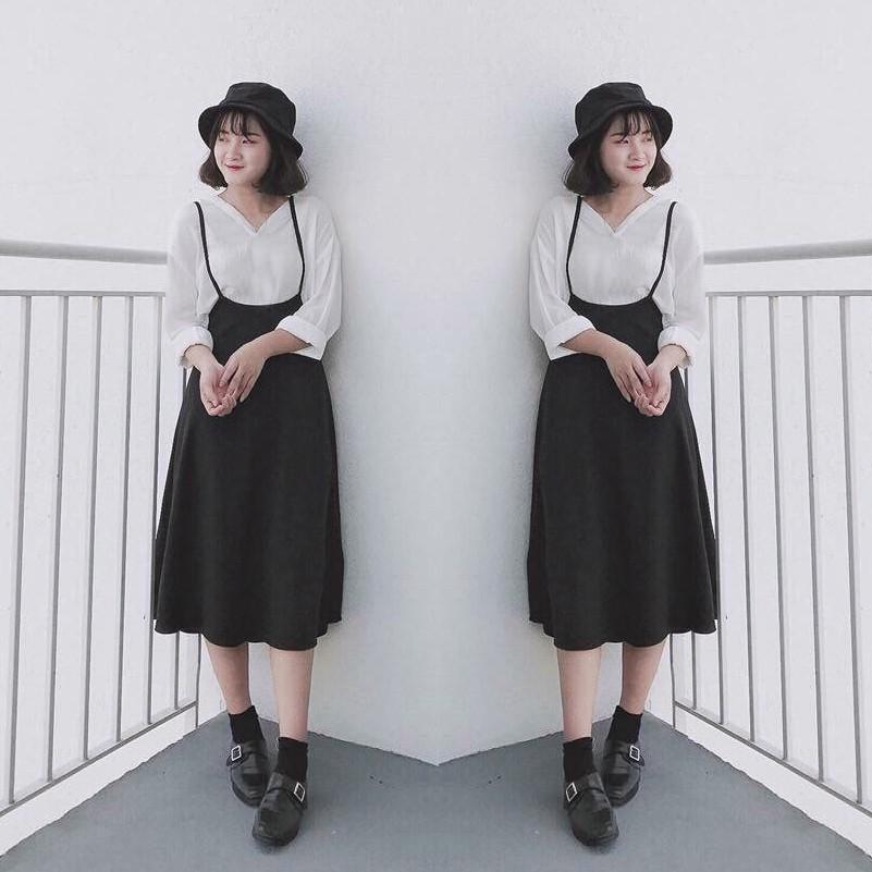 Set Áo Thun + Váy Yếm Hai Dây WM VA 800004 B