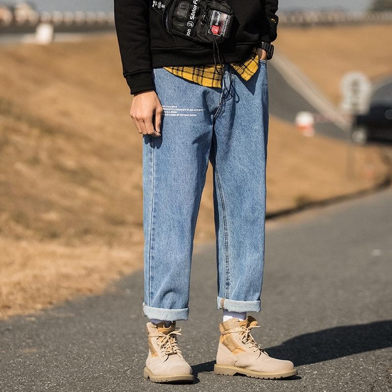 Quần Jeans Dài Ống Rộng Thời Trang Dành Cho Nam