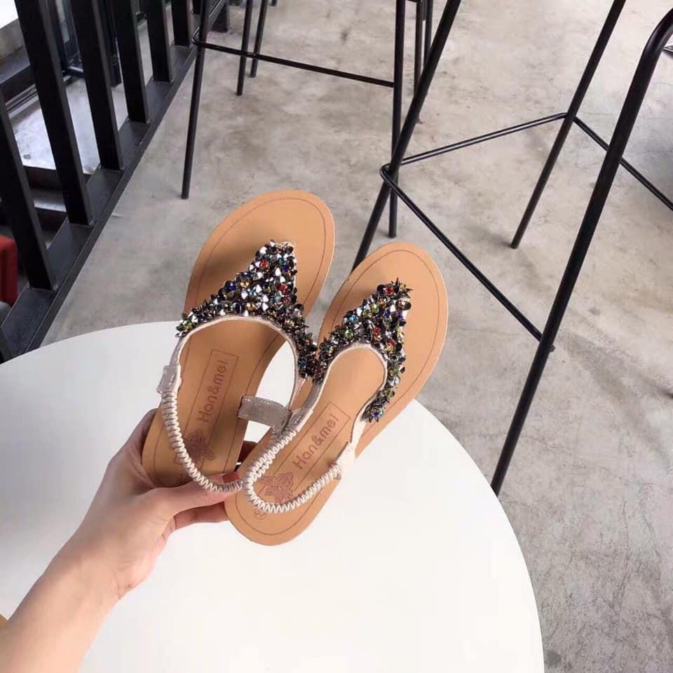 Giày Sandanl kẹp yếm đá mq