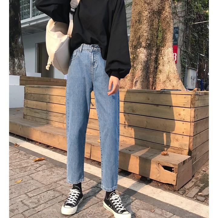 [order] quần jeans trơn ulzzang dáng rộng