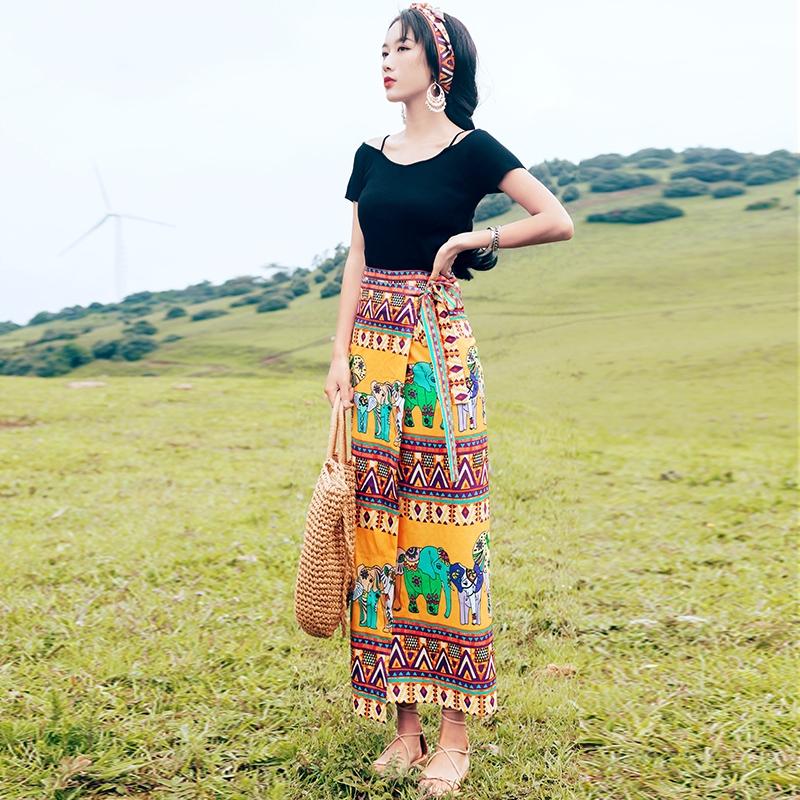 Chân Váy Dài Xếp Tầng Kiểu Thái Lan Thiết Kế Thanh Lịch Cho Nữ