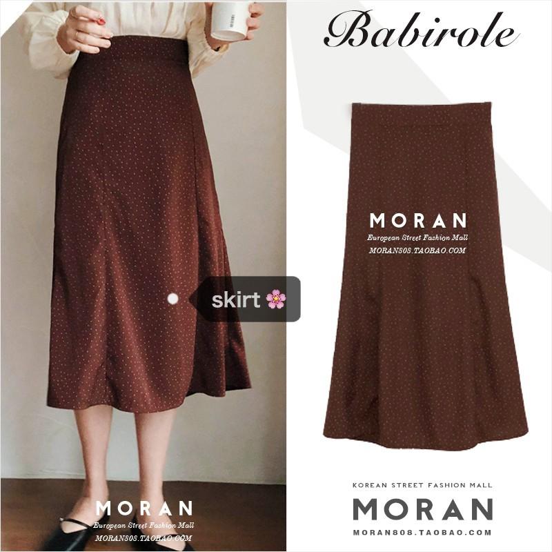 [ORDER] Chân váy MORAN dáng xòe dài chấm bi Vintage Hàn Quốc (ORDER)- có ảnh thật