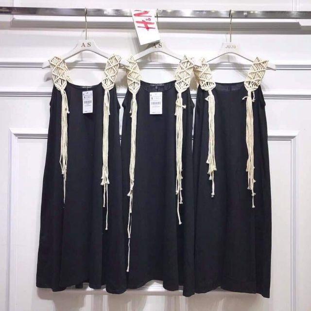 Đầm midi dây tết