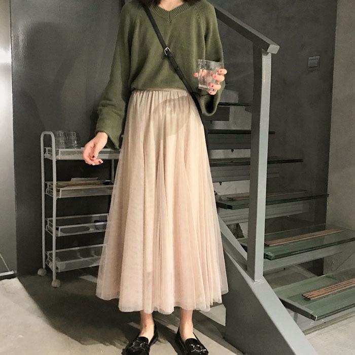 Chân Váy Dài Thời Trang Hàn Quốc Chất Lượng Cao