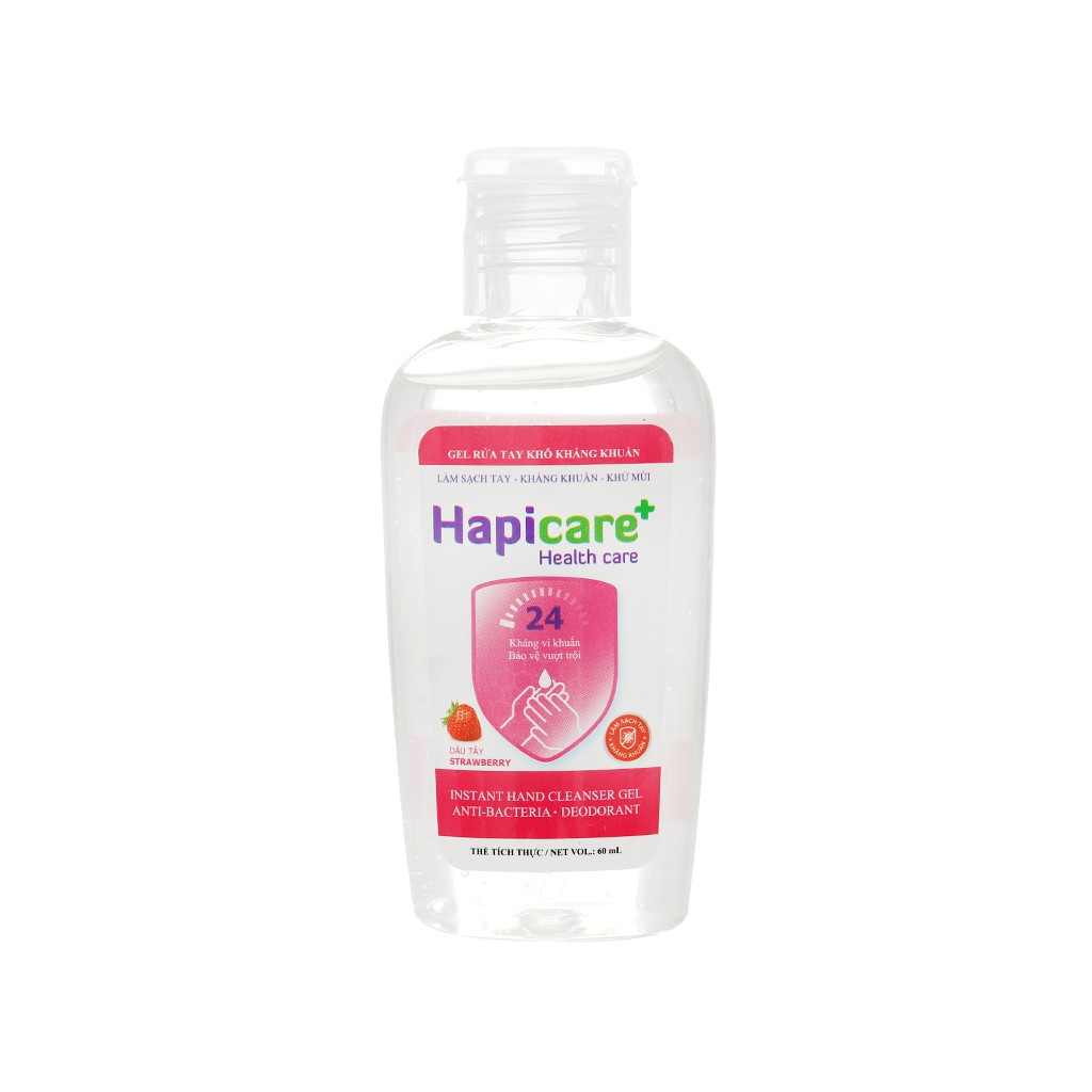Gel rửa tay khô Hapicare+ Instant Hand Cleanser 60ml