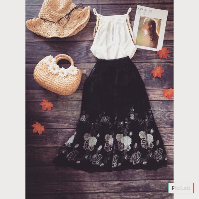 1223781362 - Chân váy Vintage Nhật