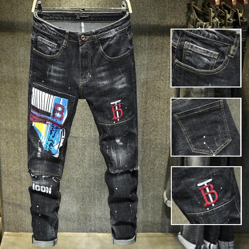 Quần Jeans Nam Dài Ôm Chân Thời Trang 2018