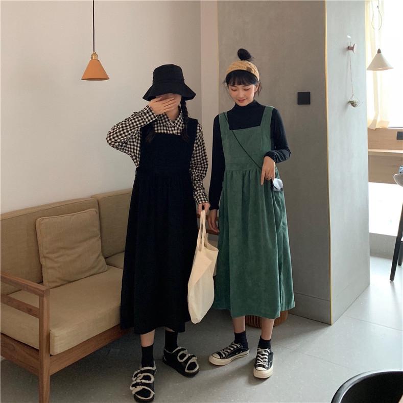 Chân Váy Nhung Lưng Cao Xinh Xắn Theo Phong Cách Hàn Quốc Dành Cho Nữ