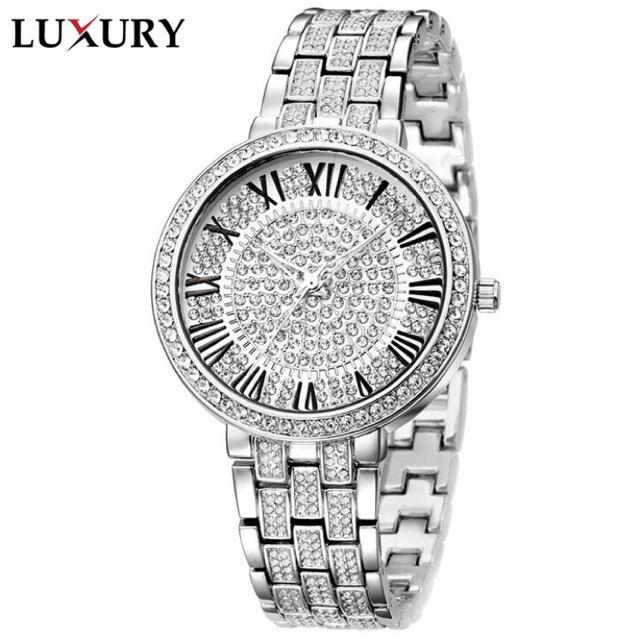 Đồng hồ nữ đính pha lê thương hiệu Luxury