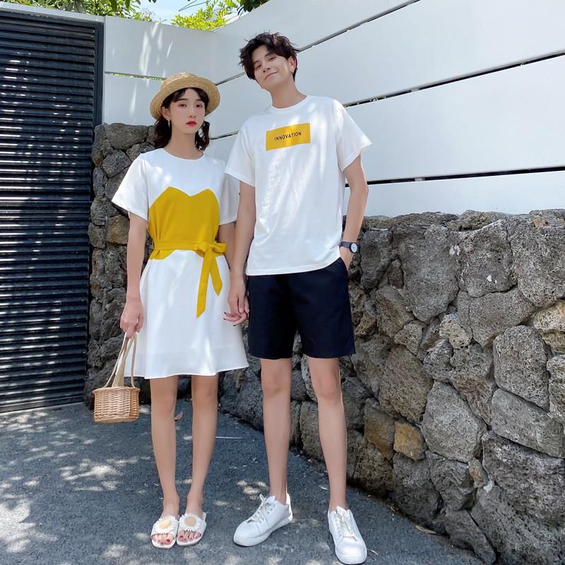Bộ Áo Thun Ngắn Tay + Chân Váy Xinh Xắn Dành Cho Nữ 2020