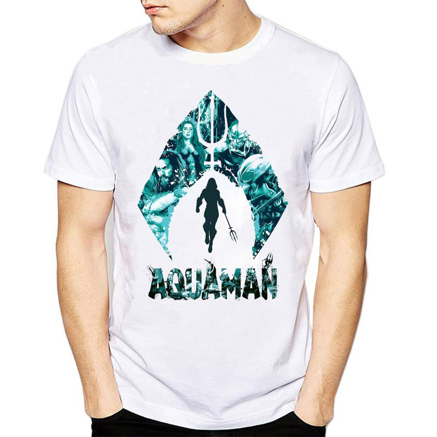 Áo thun Marvel in hình Aquaman, áo thun unisex nam nữ - Giá rẻ